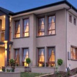 the refined facade of a timeless family home built by Ghan Homes